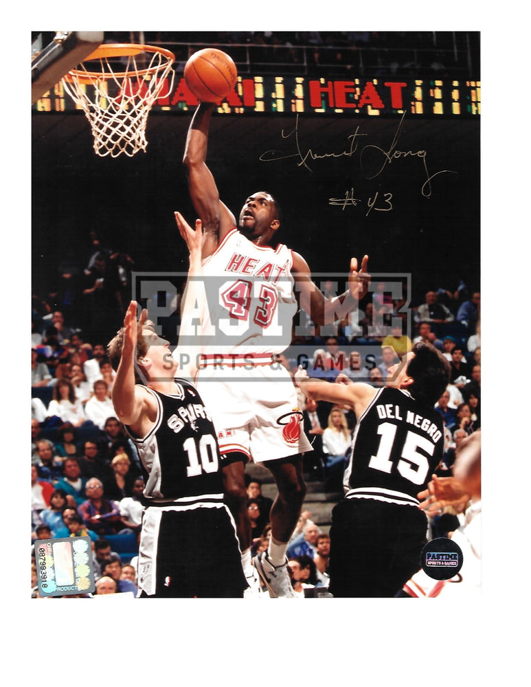 Grant Long Autographed 8X10 Miami Heat (About To Shoot) - Pastime Sports & Games