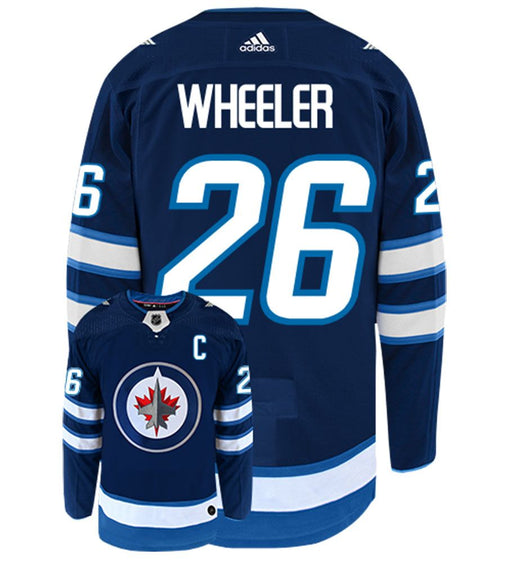 2017/2018 Winnipeg Jets Blake Wheeler Adidas Home Blue Jersey - Pastime Sports & Games