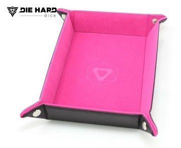 Die Hard Table Armor Folding Dice Tray Rectangle Tray w/Pink Velvet - Pastime Sports & Games