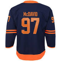 Connor McDavid Edmonton Oilers Hockey Alternate Youth Jersey (Outerstuff Navy) - Pastime Sports & Games