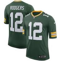 Aaron Rodgers 12 Green Bay Packers Home Jersey Football (Green Nike)