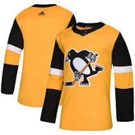 2018/19 Pittsburgh Penguins Adidas Alternate Home Yellow Jersey - Pastime Sports & Games