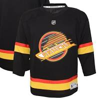 Vancouver Canucks Youth Black Skate Hockey Jerseys (Black Outerstuff) - Pastime Sports & Games