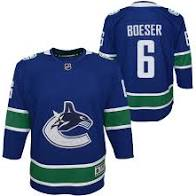 2019/20 Brock Boeser Vancouver Canucks Hockey Home Youth Jersey (Outerstuff Blue) - Pastime Sports & Games
