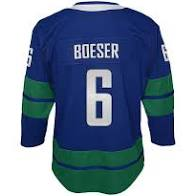 2019/20 Brock Boeser Vancouver Canucks Hockey Alternate Youth Jersey (Outerstuff Blue) - Pastime Sports & Games