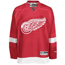 2015/16 Detroit Red Wings Reebok Home Red Jersey
