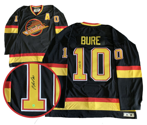 Pavel Bure autographed Vancouver Canucks Skate Jersey Adidas - Pastime Sports & Games