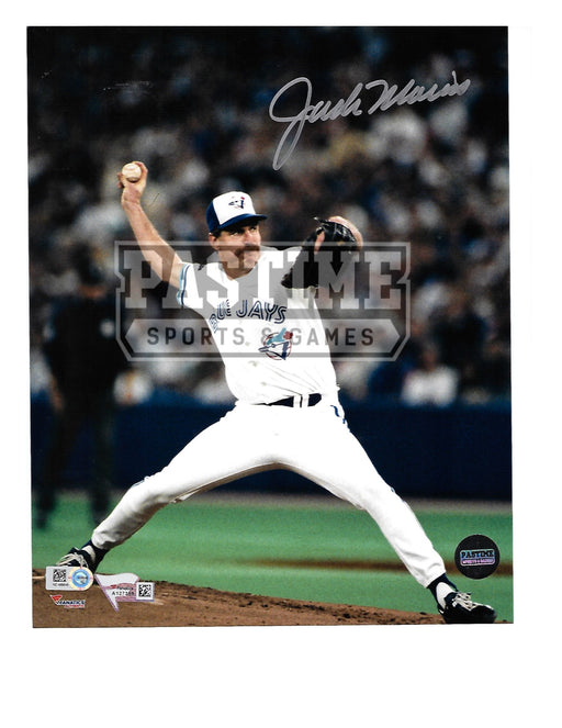 Jack Morris Autographed 8X10 Toronto Blue Jays (Throwing Ball) - Pastime Sports & Games