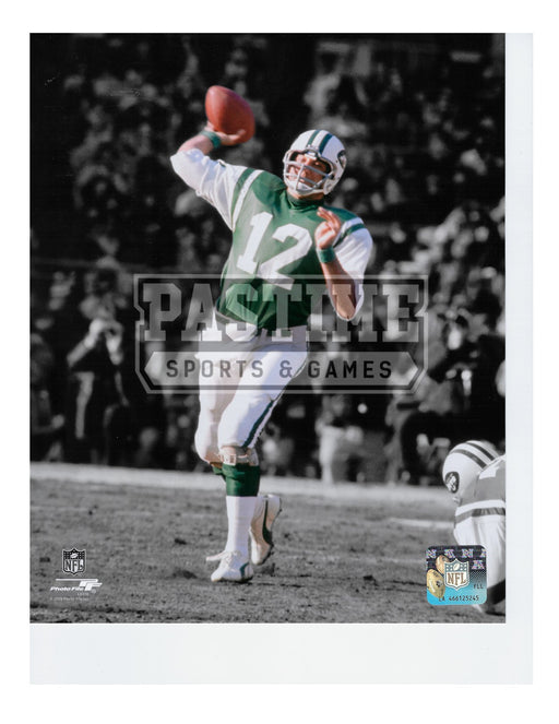Joe Namath 8X10 New York Jets (Throwing Ball) - Pastime Sports & Games