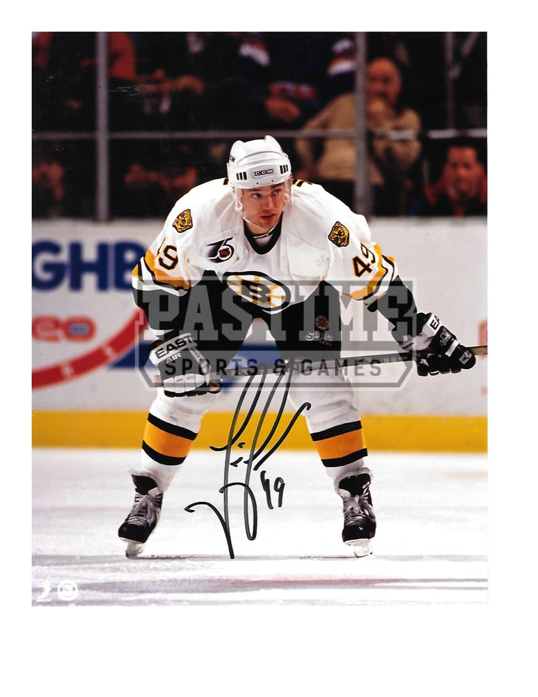 Joe Juneau Autographed 8X10 Boston Bruins Away Jersey (In Position) - Pastime Sports & Games