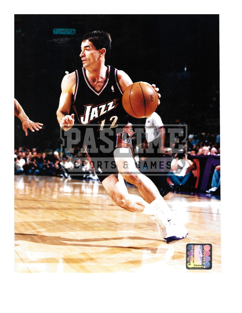 John Stockton 8X10 Utah Jazz (With Ball) - Pastime Sports & Games