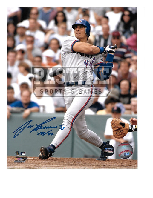 Jose Canseco Autographed 8X10 Toronto Blue Jays (About To Bat) - Pastime Sports & Games