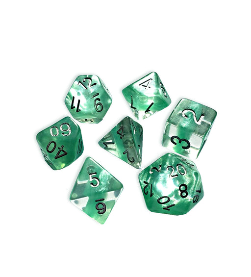 Gate Keeper Games 7pc RPG Dice Set Neutron Mint - Pastime Sports & Games