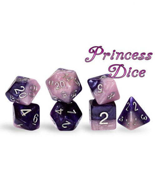 Gate Keeper Games 7pc RPG Dice Set Halfsies Princess - Pastime Sports & Games
