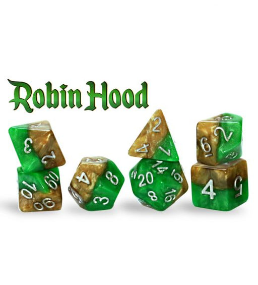 Gate Keeper Games 7pc RPG Dice Set Halfsies Robin Hood - Pastime Sports & Games