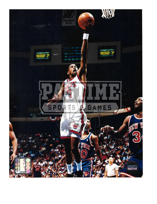 Kenny Anderson Autographed 8X10 Brooklyn Nets (About To Shoot) - Pastime Sports & Games