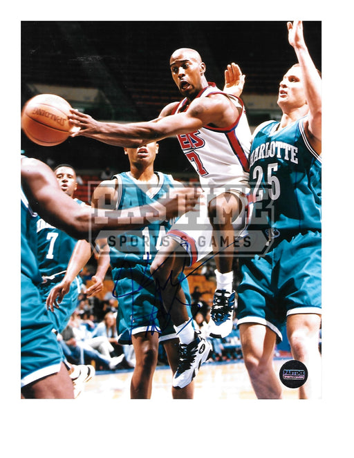 Kerry Anderson Autographed 8X10 Houstan Rockets (Trying To Keep Ball) - Pastime Sports & Games