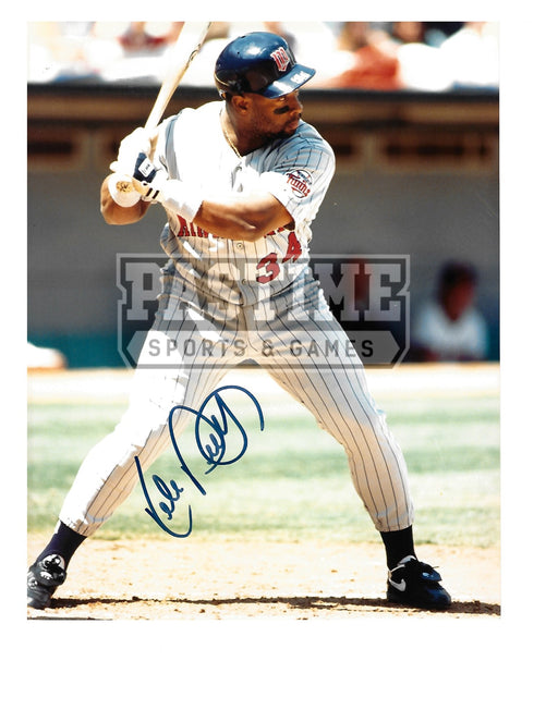 Kirby Puckett Autographed 8X10 Minnesota Twins (About To Bat) - Pastime Sports & Games