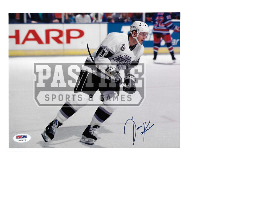 Jari Kurri Autographed 8X10 L.A Kings Away Jersey (Skating) - Pastime Sports & Games