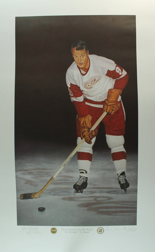 Gordie Howe Autographed Wood Framed Photo Detriot Red Wings 23X37 - Pastime Sports & Games