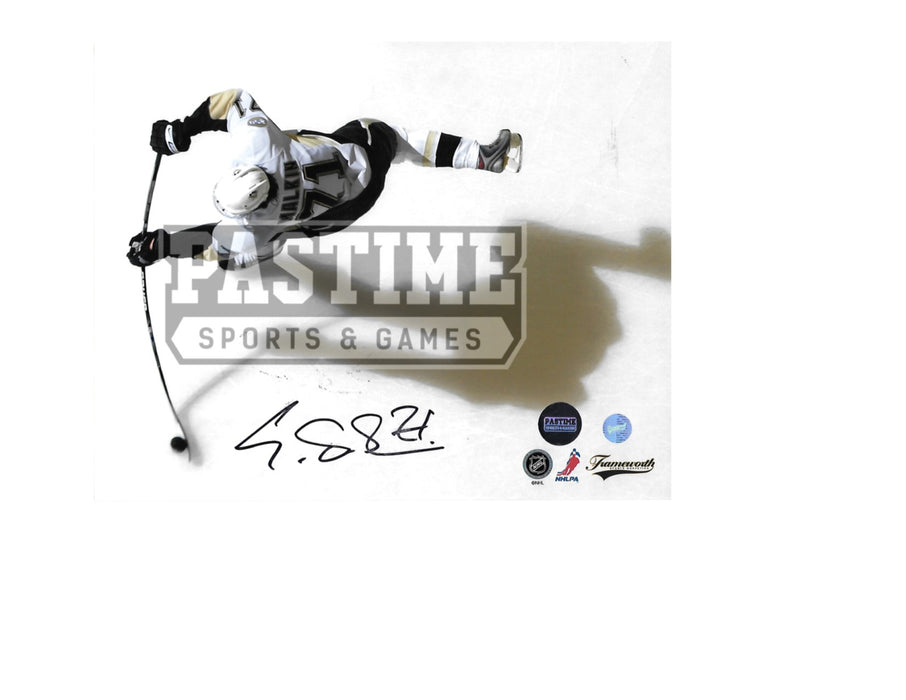 Evgeni Malkin Autographed 8X10 Pittsburgh Penguins Away Jersey (Slap Shot) - Pastime Sports & Games