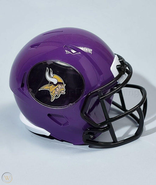 Minnesota Vikings Football Piggy Bank (Purple FOCO) - Pastime Sports & Games