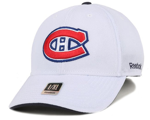 NHL Montreal Canadiens Hockey Stretch Hat (White Reebok) - Pastime Sports & Games