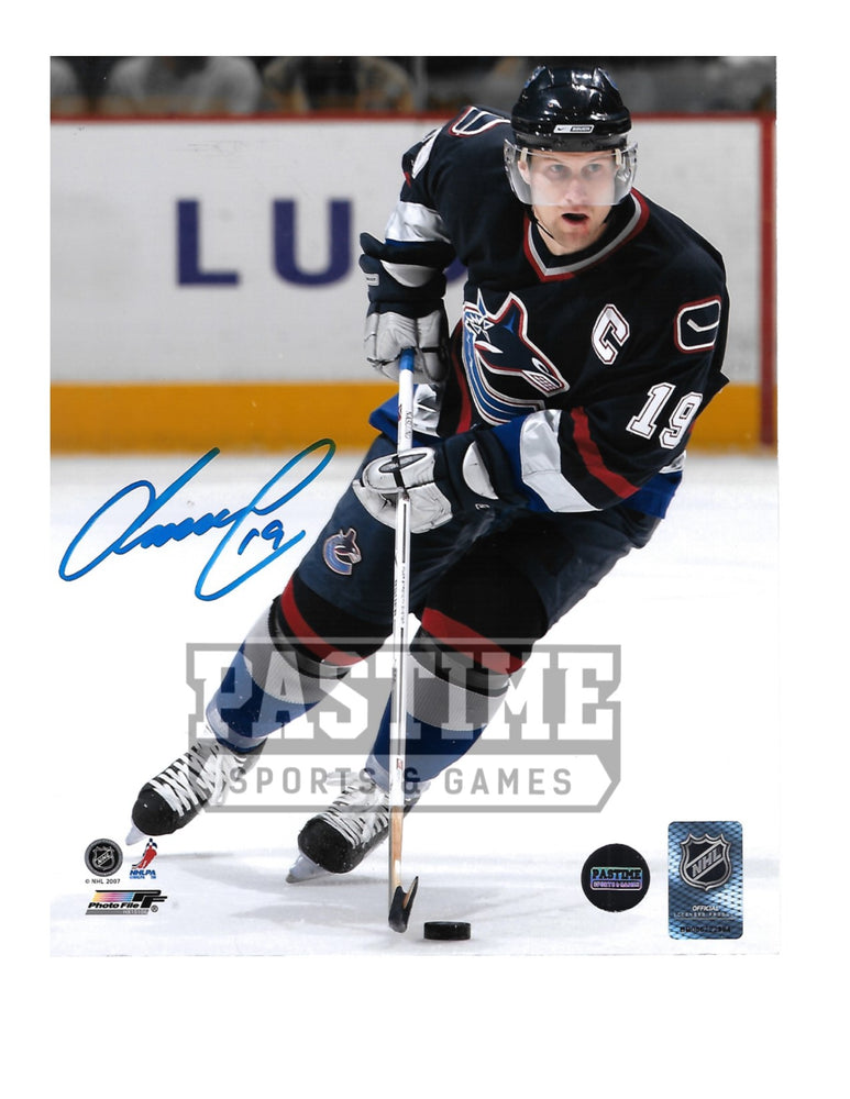 Markus Naslund Autographed 8X10 Vancouver Canucks Home Jersey (Skating) - Pastime Sports & Games