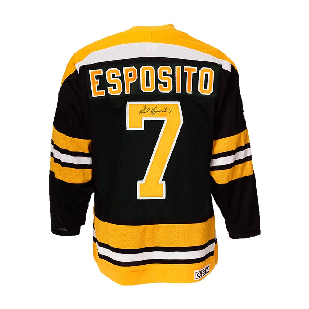 Phil Esposito Autographed Boston Bruins Hockey Jersey CCM - Pastime Sports & Games