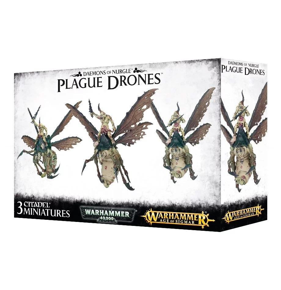 Warhammer 40,000/Age Of Sigmar Daemons Of Nurgle Plague Drones (97-21) - Pastime Sports & Games