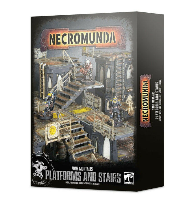 Necromunda Zone Mortalis Platforms and Stairs (300-49) - Pastime Sports & Games