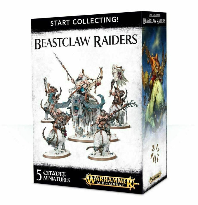 Warhammer Age of Sigmar Start Collecting! Beastclaw Raiders (70-86) - Pastime Sports & Games