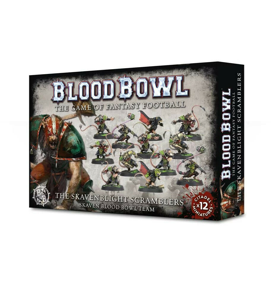 Blood Bowl The Skavenblight Scramblers Skaven Blood Bowl Team (200-11) - Pastime Sports & Games