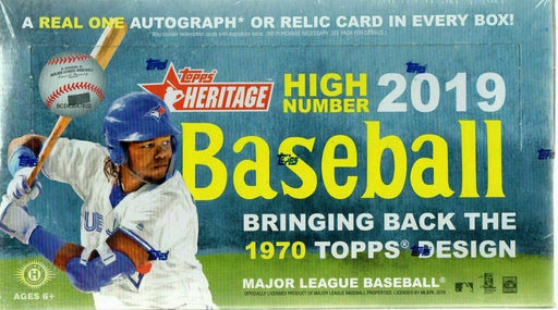 2019 Topps Heritage High Numbers Baseball Hobby - Pastime Sports & Games