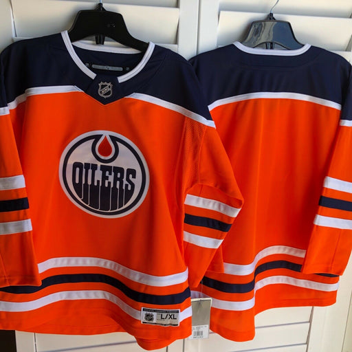 Edmonton Oilers Youth Home Hockey Jersey (Orange Outerstuff) - Pastime Sports & Games