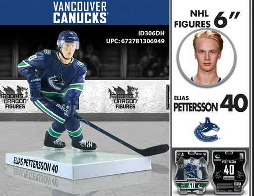 "Imports Dragon Figures: Vancouver Canucks Elias Pettersson 6"" Figure - Pastime Sports & Games"