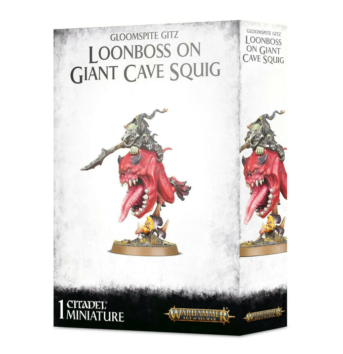 Warhammer Age of SIgmar Gloomspite Gitz Loonboss on Giant Cave Squig (89-35) - Pastime Sports & Games