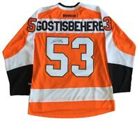 Shayne Gostisbehere Autographed Philadelphia Flyers Hockey Jersey (Orange Reebok) - Pastime Sports & Games