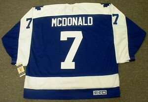 1978/79 Toronto Maple Leafs Lanny Macdonald CCM Home Blue Jersey - Pastime Sports & Games