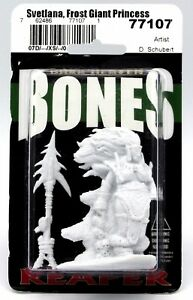Reaper Bones Dark Heaven Svetlana, Frost Giant Princess Miniature - Pastime Sports & Games