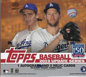 2019 Topps Update Series Baseball Jumbo Hobby - Pastime Sports & Games