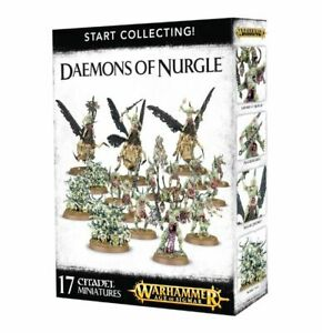 Warhammer Age Of Sigmar Start Collecting! Daemons Of Nurgle (70-98) - Pastime Sports & Games