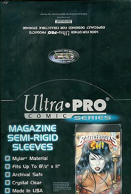 Ultra Pro Comic Series Magazine Semi-Rigid Sleeves - Pastime Sports & Games