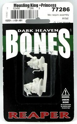 Reaper Bones Dark Heaven Mousling King and Princess Minatures - Pastime Sports & Games