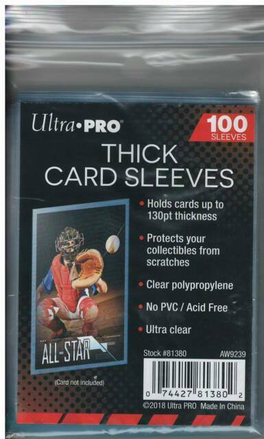 Ultra Pro Thick Card Sleeves - Pastime Sports & Games