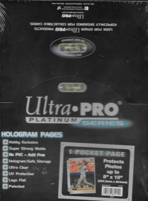 Ultra Pro Platinum Series 1 Pocket Photo Pages - Pastime Sports & Games