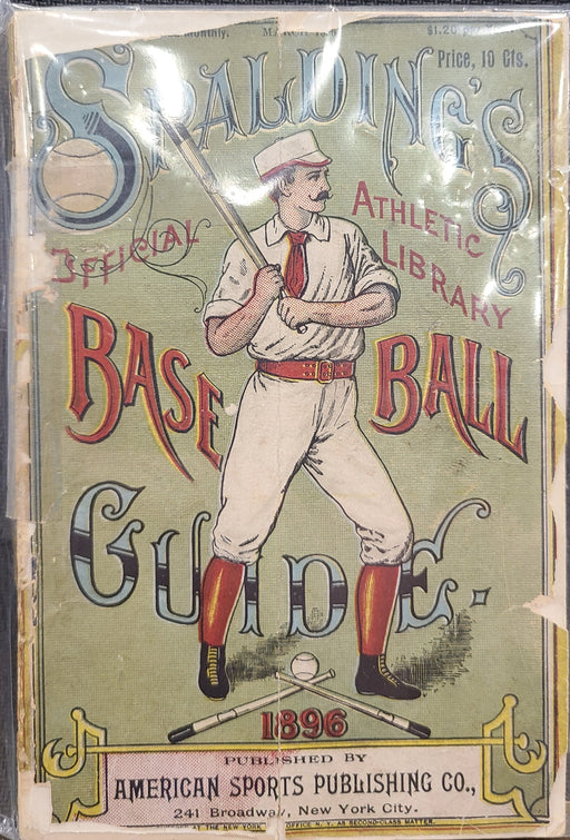 Vintage Spalding's Official Athletic Library Baseball Guide Spalding From 1896 - Pastime Sports & Games