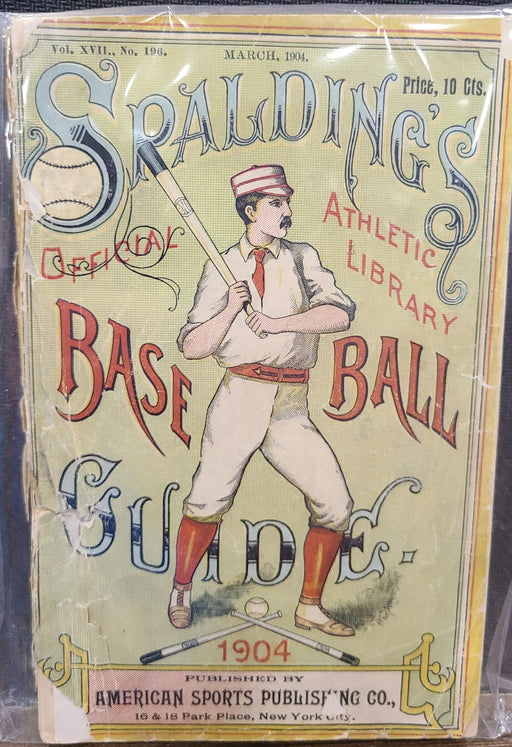 Vintage Spalding's Official Athletic Library Baseball Guide Spalding From 1904 - Pastime Sports & Games