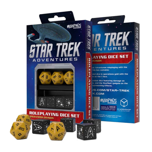 Q-Workshop 7pc Dice Set Star Trek Adventures Operations Division - Pastime Sports & Games