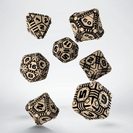 Tech Dice Beige & Black 7Pc